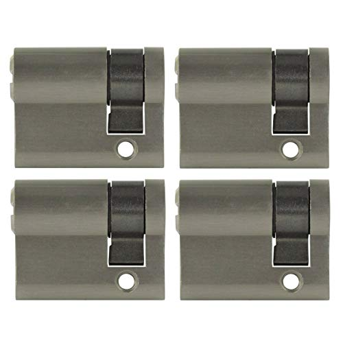 4x Halbzylinder 40 mm 30/10 gleichschließend inkl. 20 Schlüssel