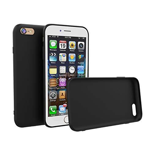 Brand.it Monkey - Carcasa de silicona TPU para iPhone SE/5/5S, ultrafina, color negro mate, compatible con carga inalámbrica