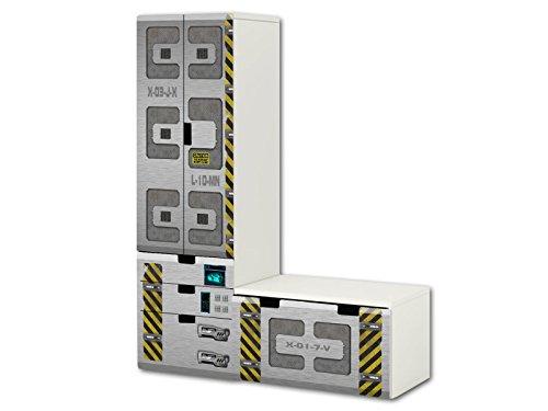 Nave especial pegatinas   SL25   adecuado para la combinación de guarda STUVA de IKEA (forma de L)   Compuesto por armario, cómoda con 3 cajones y arcón de banco (mueble no incluido) STIKKIPIX