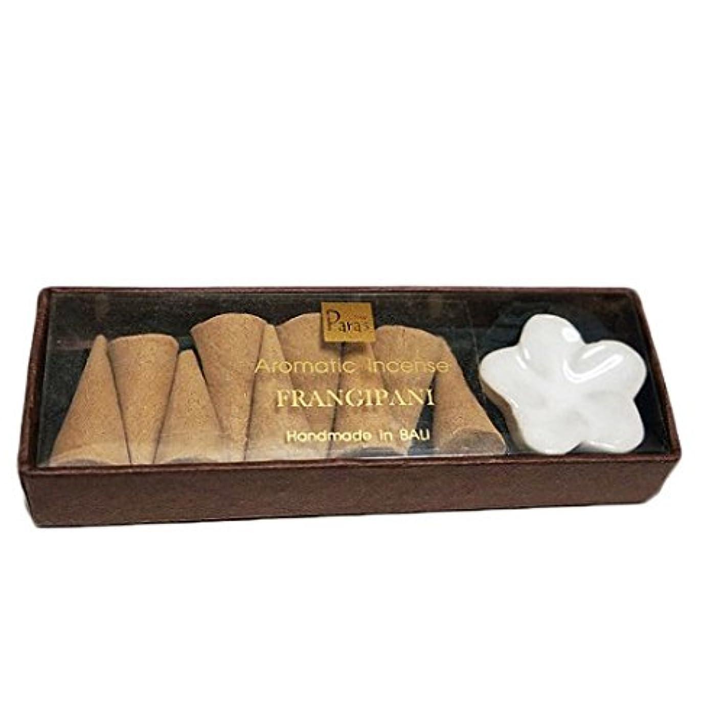 種をまくふつう石膏フランジパニ お香セット【トコパラス TOKO PARAS】バリ島 フランジパニの陶器のお香立て付き ナチュラルハンドメイドのお香