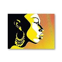 アフリカの美しい女性のポスターと印刷抽象的なアフロの女の子の顔の肖像画の壁の芸術の写真家の壁の装飾23.6x31.5in(60x80cm)x1pcsフレームなし