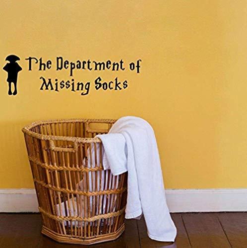 Het Departement van Ontbrekende Sokken Kamer Decor Quote Muursticker PVC Art Muursticker 17X58Cm