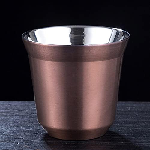 YYSD Taza de café expreso de Acero Inoxidable de Doble Pared de 80 Ml con Aislamiento Nespresso Pixie Taza de café con Forma de cápsula Taza térmica Bonita