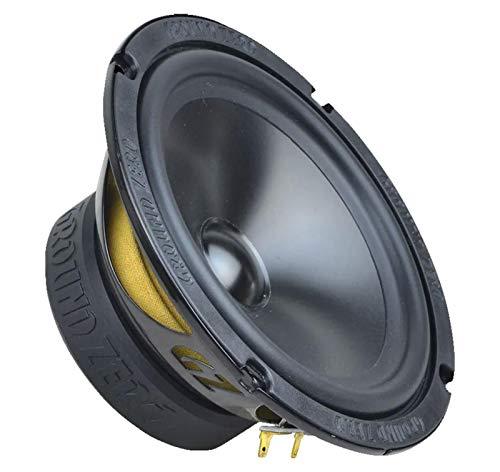 GROUND ZERO Auto 165mm / 16,5cm lage middentonen set luidspreker/boxen GZRK 165SQ - zwart