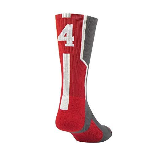 Twin City Player Id Single Crew Sock 4 Red L