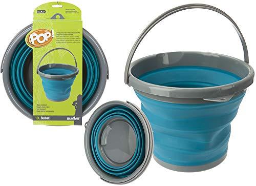 PMS Sommet Pop Seau 10 L avec Emballage Couleur Bleu et Gris