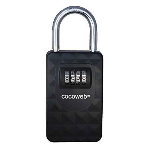 Cocoweb HKPV-S | Heavy Duty Combination Storage Lock Box - Hanging Shackle, Black