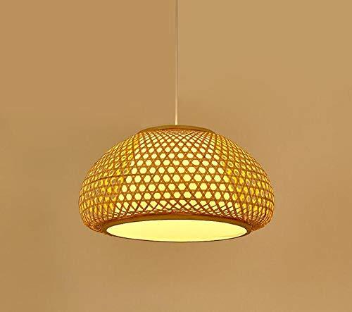 Handgemachte aus Bambus gewebte Laternen, Lampenschirm aus Bambus, Retro-Stoff, Essensstand, Teehaus-Hotel, aus Bambus gewebte Hängelampen 40 * 24