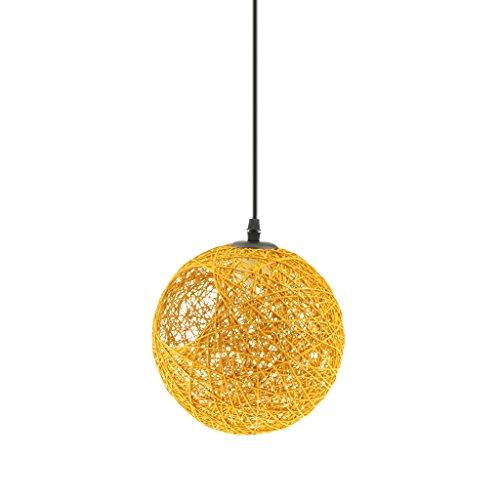 Paralumi per Lampada a Sospensione del Soffitto Lampadario Copertura Lampada Decorazione per Casa, Bar, Caffetteria, Cucina - giallo