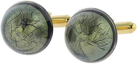 GlassOfVenice - Gemelos de Cristal de Murano Veneciano con Zafiro Gris