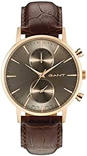 Gant Dress Watch For Men Analog Leather - G Gww11210, Brown Band, Analog Display