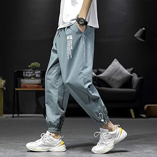 HNRLSL Pantalones Harem Cargo Pantalones de algodón de Moda Plus Size Casual Loose Harem K Pantalones para Hombre Pantalones Casuales para Hombres Baggy Swag Joggers