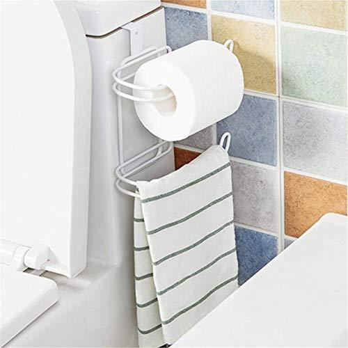 YIJIAHUI Honana - Organizador para colgar en la cocina y el baño, 2 capas, rollo de papel higiénico, estante para colgar en la cocina, y el baño, resistente al agua