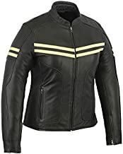 A&H Apparel Womens Motorcycle Leather Jacket Cowhide Naked Leather Jacket (XX-Large) Black