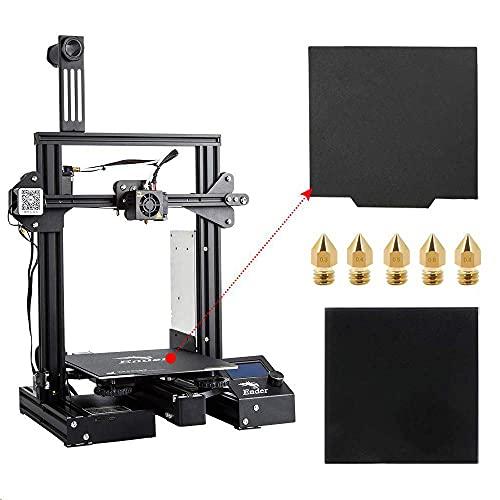 Comgrow Creality Ender 3 Pro Imprimante 3D avec Plaque en Verre, Plaque de Surface de Construction Cmagnet de Mise à Niveau et Volume de Construction d'alimentation Certifié UL 220x220x250mm
