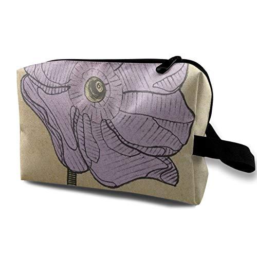 Bolsa de almacenamiento de lona de maquillaje de viaje, bolso de aseo portátil, pequeño organizador de cosméticos para niñas, mujeres, hombres, cortina de baño floral