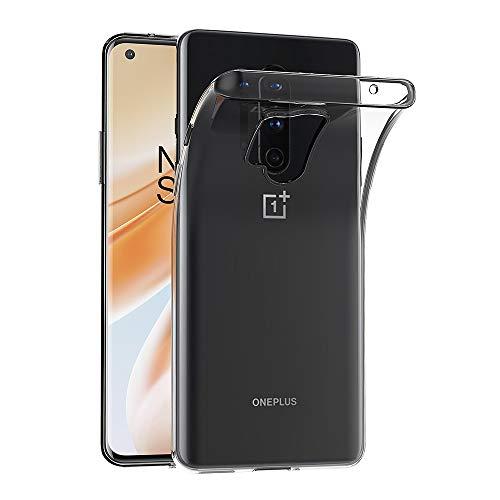 AICEK Hülle Compatible für OnePlus 8 Pro Transparent Silikon Schutzhülle für OnePlus 8 Pro Hülle Clear Durchsichtige TPU Bumper OnePlus 8 Pro Handyhülle (6,78 Zoll)