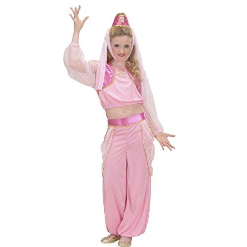 Flaschengeist Kinderkostüm Bezaubernde Jeannie 158 cm 11-13 Jahre Orient Haremsdame Märchenkostüm Bauchtanz Kostüm Karnevalskostüme Kinder Mädchen 1001 Nacht Faschingskostüm Arabische Prinzessin Orientkostüm