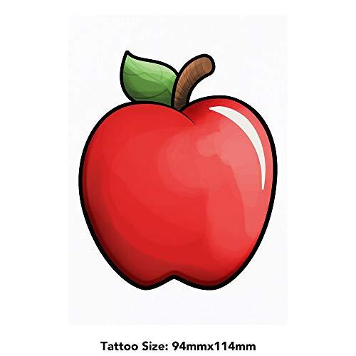 Azeeda Grand 'Pomme Rouge' Tatouages temporaires (TO00032267)