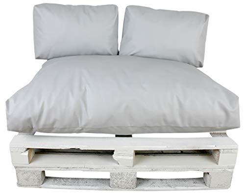 Cojin palets Desenfundable 80x120cm Máximo Confort Polipiel Gris - MODIN -