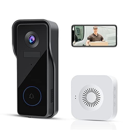 2022-All-New-Wireless-Video-Doorbell-Camera-WiFi-Home-Security-Camera-with-Chime1080P-HD2-Way-AudioMotion-DetectionIP65-WaterproofCloud-StorageSmart-24GHz-Outdoor-Door-BellEasy-Installation