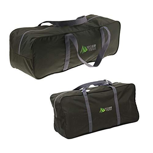 perfk 2 x Aufbewahrungstasche Zelttasche Reisetasche für Camping Zelt, wasserdicht und reißfest, M Und L