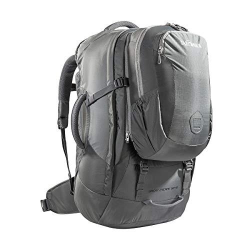 Tatonka Great Escape 50+10 - Reiserucksack mit abnehmbarem 10l-Daypack - für Herren und Damen - 60 Liter - 64 x 30 x 18 cm - Titan Grey