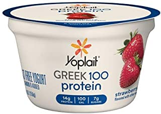 Yoplait Greek 100 Protein Yogurt 5.3 ounces (Pack of 12) (Strawberry)