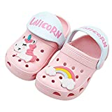 Coralup Kids Clogs Boys Girls Summer Slipper Toddlers Beach Unicorn Sandals Pink Size 9M US Toddler