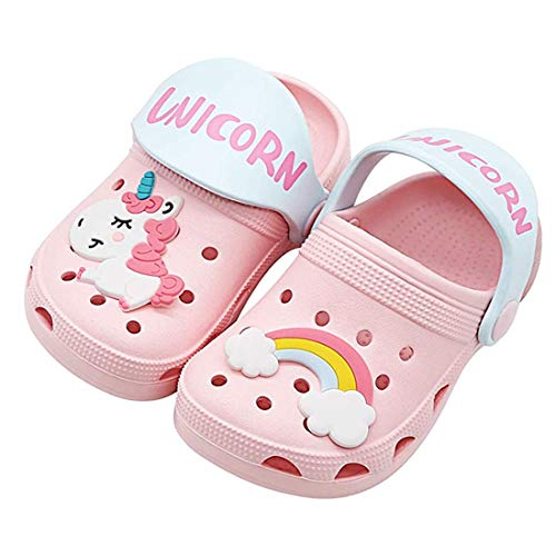 Coralup Kids Clogs Boys Girls Summer Slipper Toddlers Beach Unicorn Sandals Pink Size 8M US Toddler