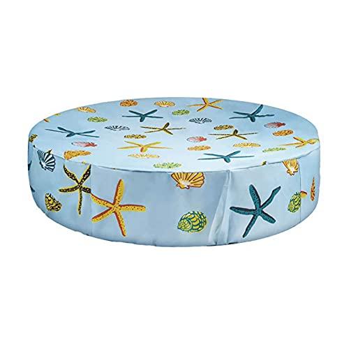 Cubierta Para Piscina Redonda Para Niños Y Mascotas - Cubierta Para Piscina Sobre El Suelo Con Patrón De Estrella De Mar Cubierta Para Bañera Para Perros, Cubierta Solar Impermeable Para Superficie,