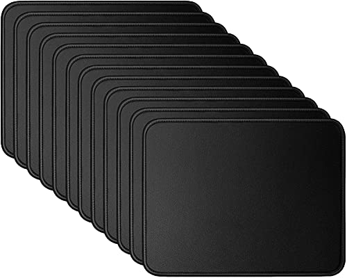 Mouse Pads Bundle Stitched Edges Premium Waterproof Gaming Mouse Mat Pad, Extends Battery Life Non-Slip Rubber Base Thick Black Mousepad for Laptop Computer & PC, 11 x 8.7 inch, Black Razer (12 Pack)