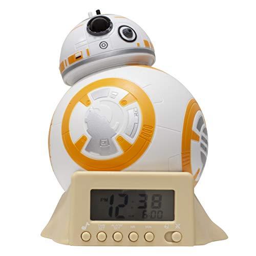BulbBotz Star Wars BB-8 - Reloj despertador, color blanco