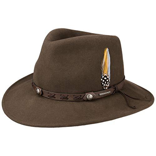 Stetson Chapeau Vail Outdoor VitaFelt Hiver Chapeaux d´Exterieur (L (58-59 cm) - Marron)