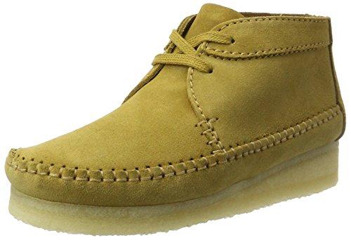 Clarks Originals Damen Weaver Chukka Boots, Braun (Ochre Suede), 39.5 EU