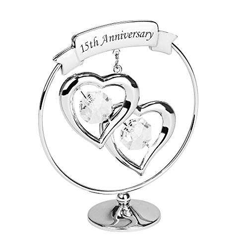 Haysom Interiors Modern 15th Anniversary Silver Plated Metal Keepsake Gift...