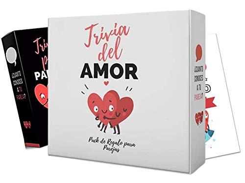 Trivia de l'amour. Lot cadeau pour couples. Kit cadeau romantique pour couples. Anniversaires, mariés, mariés, couples.