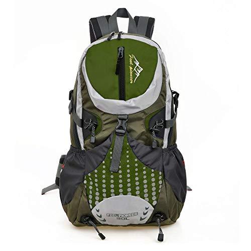 Hanggg Multifunctionele rugzak voor reizen, bergbeklimmen, reizen, kamperen, waterdicht verde
