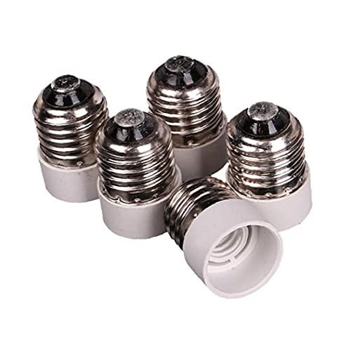 5 PCS E27 A E14 Adaptador de zócalo, tornillo medio a Base intermedia Bombilla Adaptador de enchufe Reductor