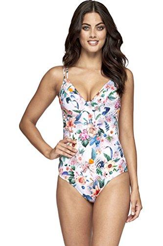 Jets Australia Gypsy DD/E Cup Underwire One Piece Swimsuit Size AUS 10 (US 6) White