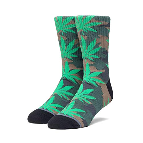 Huf Mens Plantlife Pop Camo Socks, Black, OFA