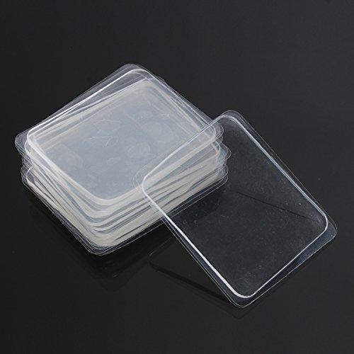 ILS - 10 Stücke Transparent Silicone Gel Pad Anti Slip Multifunction Non-Slip Wall Sticker Free Adhesive