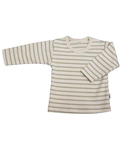 T-Shirt à Manches Longues Bébé Sable/naturel geringelt écologique - Multicolore -