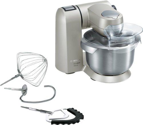 Bosch MUMX15TLDE Küchenmaschine MaxxiMUM (1600 W, 5,4 L Edelstahl-Rührschüssel, 3D PlanetaryMixing, Smart dough sensor), titanium silber