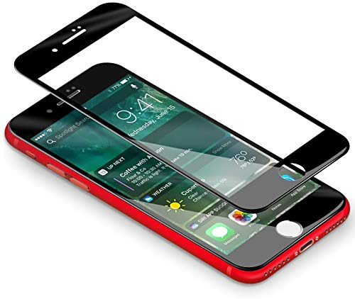 Vetro Temperato iPhone 7  8, Coolreall [3D Full Coverage] Pellicola per Apple iPhone 7  iPhone 8 (4,7 Pollici) [Ultra Resistente Durezza 9H, 3D Touch Compatible] (Nero)