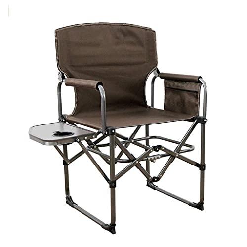 BJH Silla de Camping, Marco Resistente, reclinable reclinable con Mesa Auxiliar, Silla de Camping Plegable, Silla Plegable portátil para Exteriores