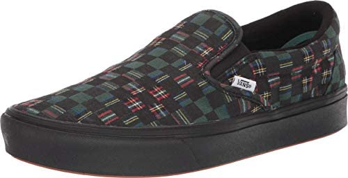 Vans ComfyCush Slip On Plaid Check Green True White Men s 5 5 Women s 7 product image