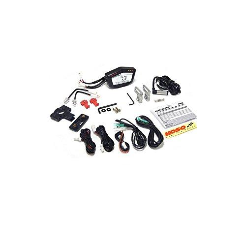 Tachometer Koso DB-02R Black Line, digitales Display, Speed/ODO/Trip/RPM/Temperatur, universal