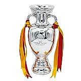 Réplica del Trofeo del Campeonato De Fútbol Europeo, Colección De Aficionados Al Fútbol De La Copa De Europa, Artesanía De Resina, Plata