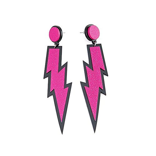 iLoveCos 80er Neon Party Kleid Zubehör Neon Ohrringe Party Kostüm 1980er Jahre Accessoires(se3)